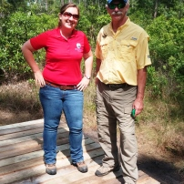 Carrie Stevenson and Rick O'Connor of the Escambia County Extension Office